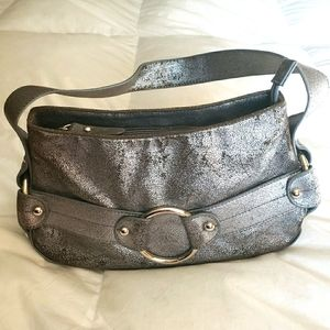 NY&Co Metallic Silver Crackle OTS Bag